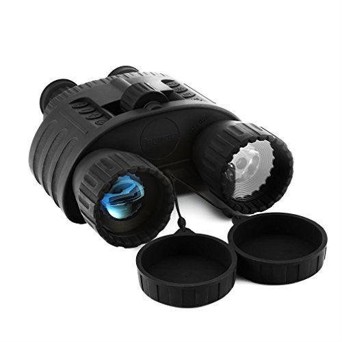 HD Digital Night Vision Binocular, Bestguarder WG80 4x50 Surveillance Binoculars Infrared Waterproof with 1.5 inch TFT LCD 5mp Photo & 720p Video from 980ft(300M) Viewing Range by Bestguarder