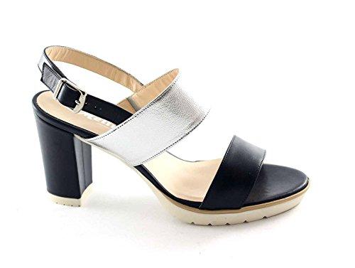 Porque en la noche bandas correa de la sandalia de la mujer zapato de tacón MELLUSO S751 Blu