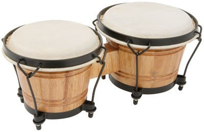 Z9V52 - MUSICAL INSTRUMENT BONGOS WITH TUNABLE HIDE HEADS AND A TRADITIONAL RIM