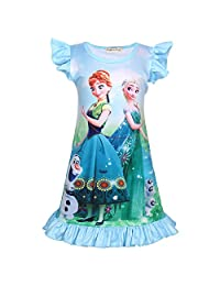 LMM Toddler Girls Princess Pajamas Nightgown Dress