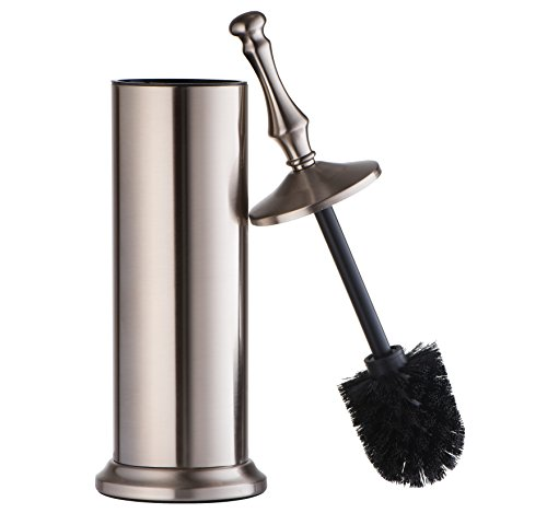 AMG and Enchante Accessories, Toilet Brush and Holder, TB114A SNI, Satin Nickel - Nickel Satin Toilet Brush
