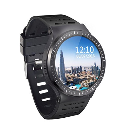 Hehairongg 3G Smart Watch, Android 5.1 OS, Quad Core 2.0MP Camera Bluetooth Nano SIM Card Soket WiFi GPS Heart Rate Monitor (Black)