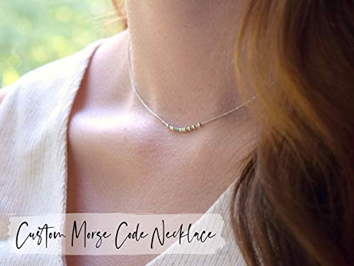 Choose Your Own Secret Message Dainty Necklace Morse Code Jewelry LGBTQ Gift Proud AF Custom Necklace