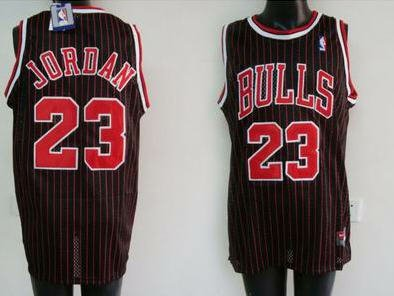 Nike Chicago Bulls #23 Michael Jordan Black (Red Strip) Jersey Size - Jersey Michael Authentic Jordan