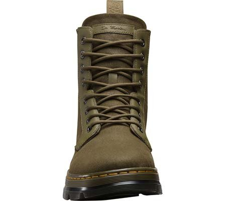 Dr.Martens Womens Combs 8 Eyelet Waxy Canvas Boots Brown