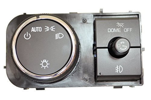 PT Auto Warehouse HLS-8828 - Headlight, Fog Lights, Instrument Panel Dimmer Switch, Chrome Trim - with Comfort & Convenience Package
