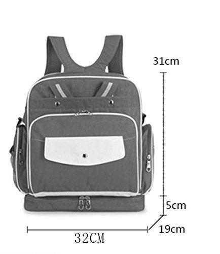Multi-funcional de alta capacidad Mummy Bolsa Hombros Messenger Bag Bolsa Madre Madre-niño Moda mochila fuera del paquete de mujeres embarazadas ( Color : D ) D