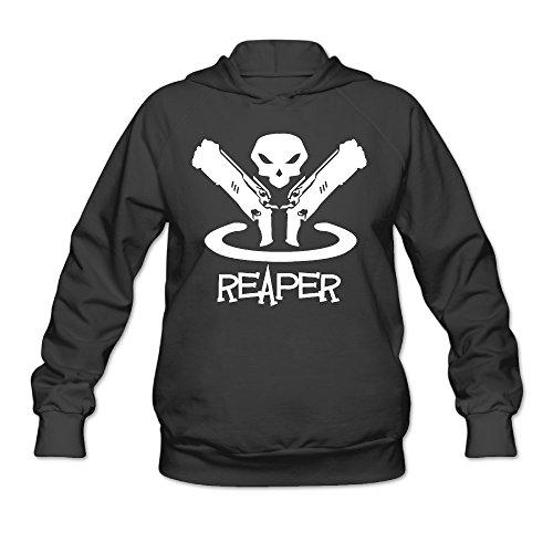 Overwatch Women's Reaper Hoodies Sweater Size L Black - Street Diva Costumes