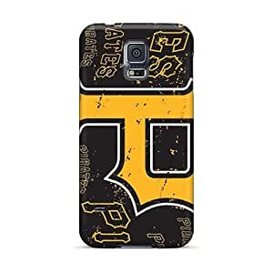 Shock Absorption Cell-phone Hard Cover For Samsung Galaxy S5 With Unique Design HD Pittsburgh Pirates Skin JamieBratt