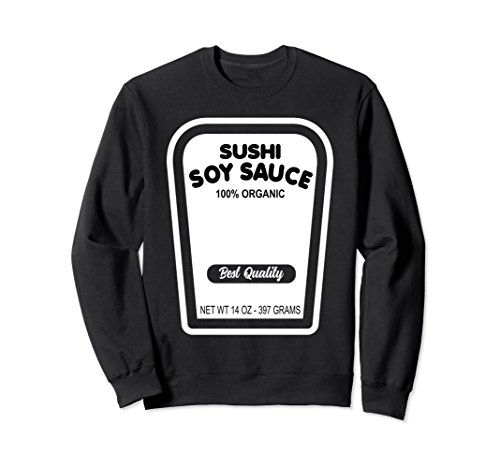 Unisex Funny Sushi Soy Sauce Halloween Costume Sweatshirt Small Black