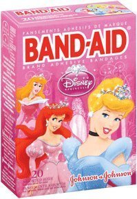 Band Aid Childrens Adhesive Bandages (BAND-AID Children's Adhesive Bandages, Disney Princess, Assorted Sizes 20 ea (Pack of 3))