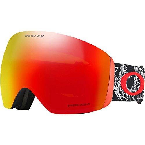 Oakley Flight Deck Asian Fit Snow Goggles, Craneos Muertos Frame, Prizm Torch Iridium Lens, ()
