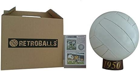 BALÓN FÚTBOL RETRO AÑO 1950: Amazon.es: Deportes y aire libre