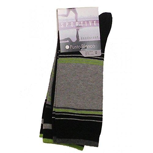 Punto Blanco - PACK 2 CALCETINES SPORT PUNTO BLANCO DEODORANT - NEGRE, U: Amazon.es: Ropa y accesorios