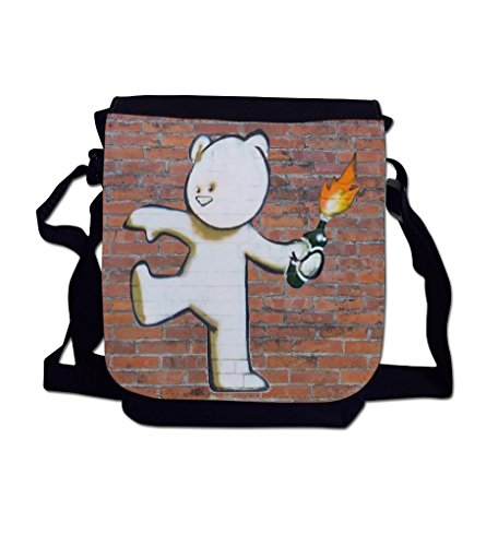 Wall Shoulder Reporter Brick Teddy Printed Graffiti Sublimation Bag Mild Mild Art Banksy West Mini UpwqF