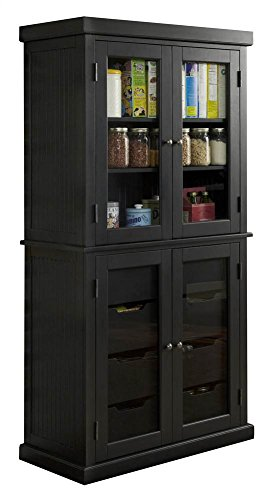 Home Styles Furniture 5003-64 Americana China Pantry, Black