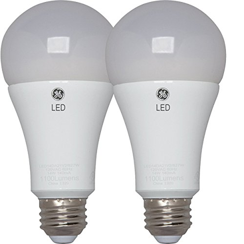 A21 Medium Base 3 Way - GE Lighting 37647 3-Way LED 30/70/100W replacement A21 Bulb with Medium Base, Soft White, 2 Pack