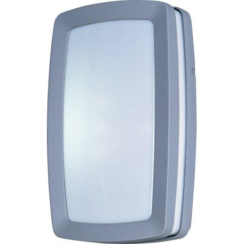 Maxim Lighting 86201WTPL Two Light White Glass Outdoor Wall Light, Platinum