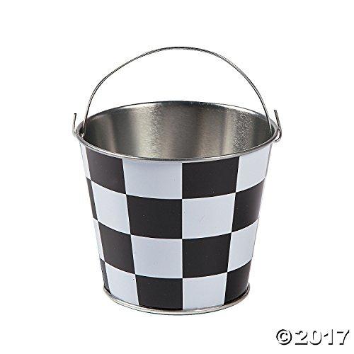 - Mini Checkered Pails - 12 ct