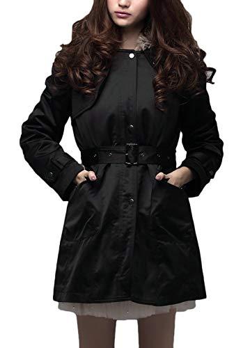 Chaud Épaissir Fashion Capuchon Veste Outerwear Casual Femme Longues Fourrure Parka Outdoor À Coat Dame Noir Manches Avec Manteau Vintage Elégante Doublure Hiver qB7O7