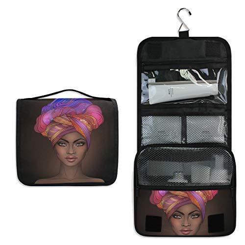 African American Gir Toiletry Bag Multifunction Cosmetic Bag Portable Makeup Pouch Travel Hanging Organizer Bag for Women Girls