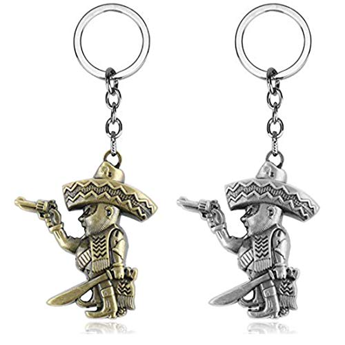 Cowboy Bandidos Figure Keychain Pendant Charms Jewelry Gifts for Fans 2PCS