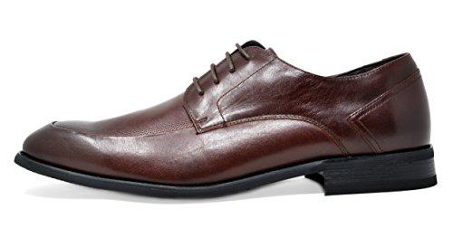 Bruno Marc Mens Washington Äkta Läderklänningen Oxfords Skor 3-mörkbrun