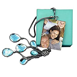 Personalized Double-Sided Photo Crystal Car Pendant