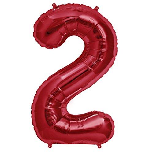 Tellpet Red Number 2 Balloon, 40