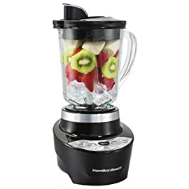 Hamilton Beach 56206 Smoothie Smart Blender 44 Dimensions: 7.8 W x 7.7 D x 14.4 H in. 700 watt peak power Features 5 different blending options