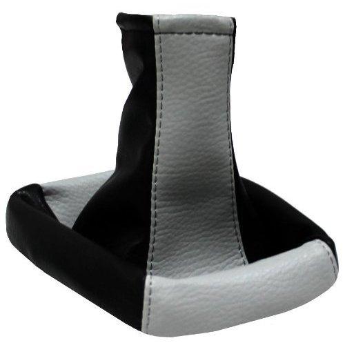 Aerzetix - Cuffia leva cambio fatto di similpelle grigio chiaro e nero . 3800946045762