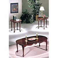 3-pc Pack Essex dark cherry Finish Coffee Table Set Acs20402