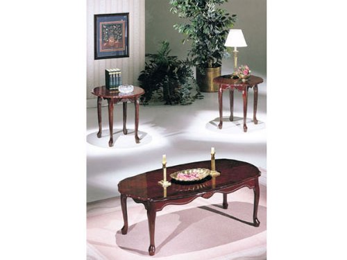 3-pc Pack Essex dark cherry Finish Coffee Table Set (Essex Coffee Table)