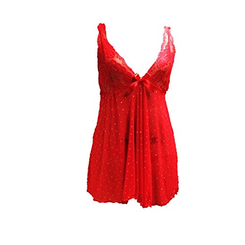 Rosso con corte Crossover donna maniche Babydoll Oudan W6YfCqwAnB