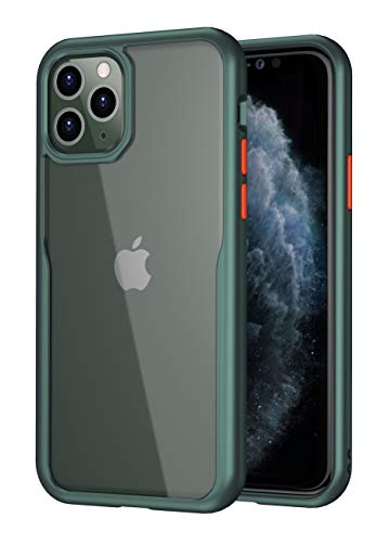Bounceback Transparent Clear Shock Proof Back Cover Case for Apple iPhone 11 Pro – Minty Green