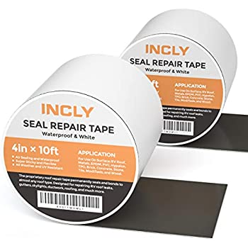 Incly 2 Pack 4 Quot X10ft Waterproof Sealing Repair Tape Flex