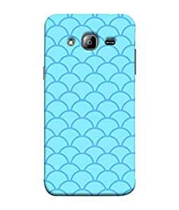 ColorKing Samsung J5 2015 Case Shell Cover - Waves Blue