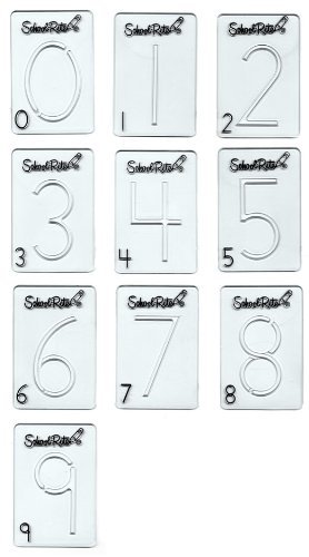 School-Rite Handwriting Instruction Guides, Numbers, (Set of 10)