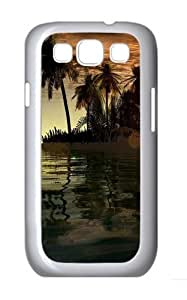 3D Islands And Tree Custom Hard Back Case Samsung Galaxy S3 SIII I9300 Case Cover - Polycarbonate - White