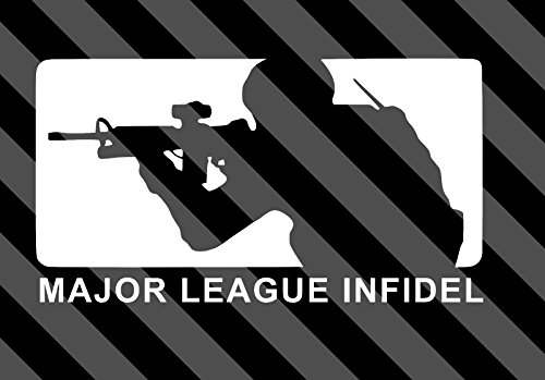 Major League Infidel Vinyl Decal Sticker Size: 7