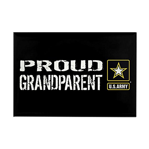 CafePress U.S. Army: Proud Grandparent (Bla Rectangle Magnet, 2