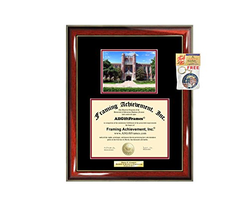 - Diploma Frame University of Oklahoma Graduation Gift Idea OU Engraved Picture Frames Engraving Degree Graduate Bachelor Masters MBA PHD Doctorate School