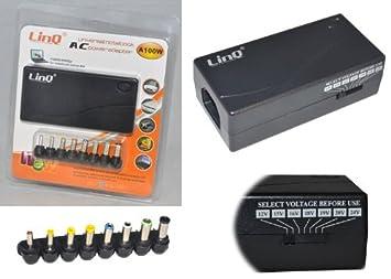 Linq A100W - Fuente de alimentación universal para ordenador portátil (100 W, 200 V, incluye adaptadores para múltiples marcas): Amazon.es: Electrónica