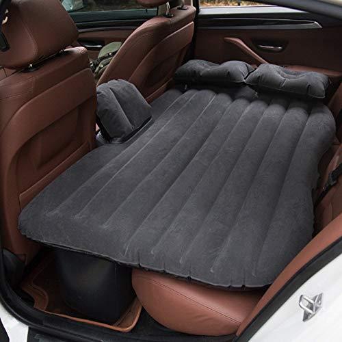 Vinteky Multifuncional Hinchable Impermeable Portable Adjustable 2 en 1 Colchon para Coche y Sofa al Aire Libre, Adecuado para Viajes de Larga Distancia(Negro)