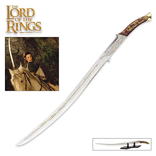 United Sword Display Stand - United Cutlery The Lord of The Rings Hadhafang Sword of Arwen Evenstar with Display Stand - Blade Has Elven Runes - 38 1/8