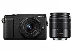 Panasonic Lumix Gx85 Camera With 12-32mm & 45-150mm Lens Bundle, 4k, 5 Axis Body Stabilization, 3 Inch Tilt & Touch Display, Dmc-gx85wk (Black Usa)