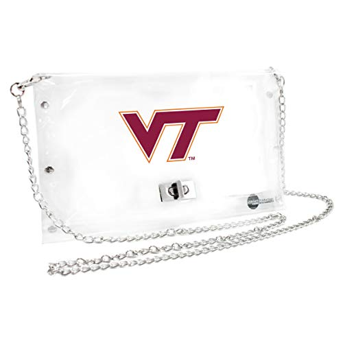 (Littlearth Virginia Tech Hokies  NCAA Envelope Purse, Clear  - 10 x 0.5 x 6.5 - Inch)