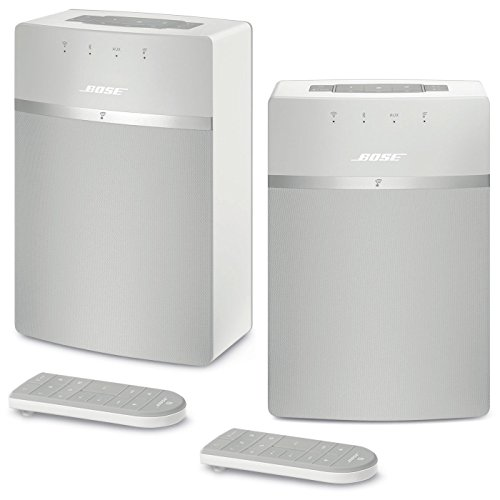 bose soundtouch 10 wireless music system bundle 2 pack white. Black Bedroom Furniture Sets. Home Design Ideas