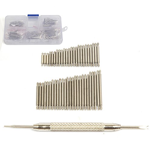 Ginsco 360 Pcs 20 Sizes 6-25mm  Stainless Steel Watch Band Spring Bars Link Pins with Strap Link Pin Remover Kit from Ginsco