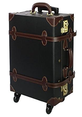 Amazon Com Moierg Vintage Trolley Luggage 2tone Tsa